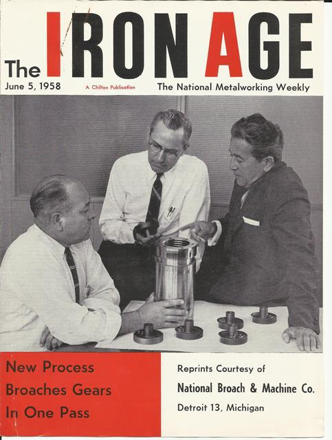 The Iron Age, The National Metalworking Weekly, June5, 1958