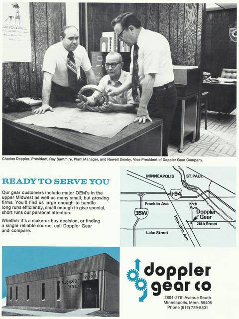 Ready to Serve You, Doppler Gear Co.