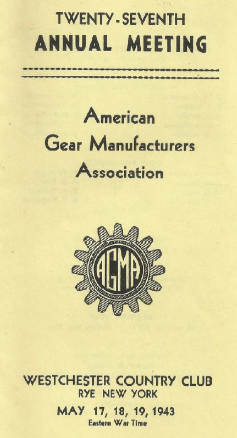 AGMA Annual Meeting 1943